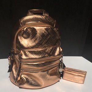 NWT Rose Gold Steve Madden Backpack!